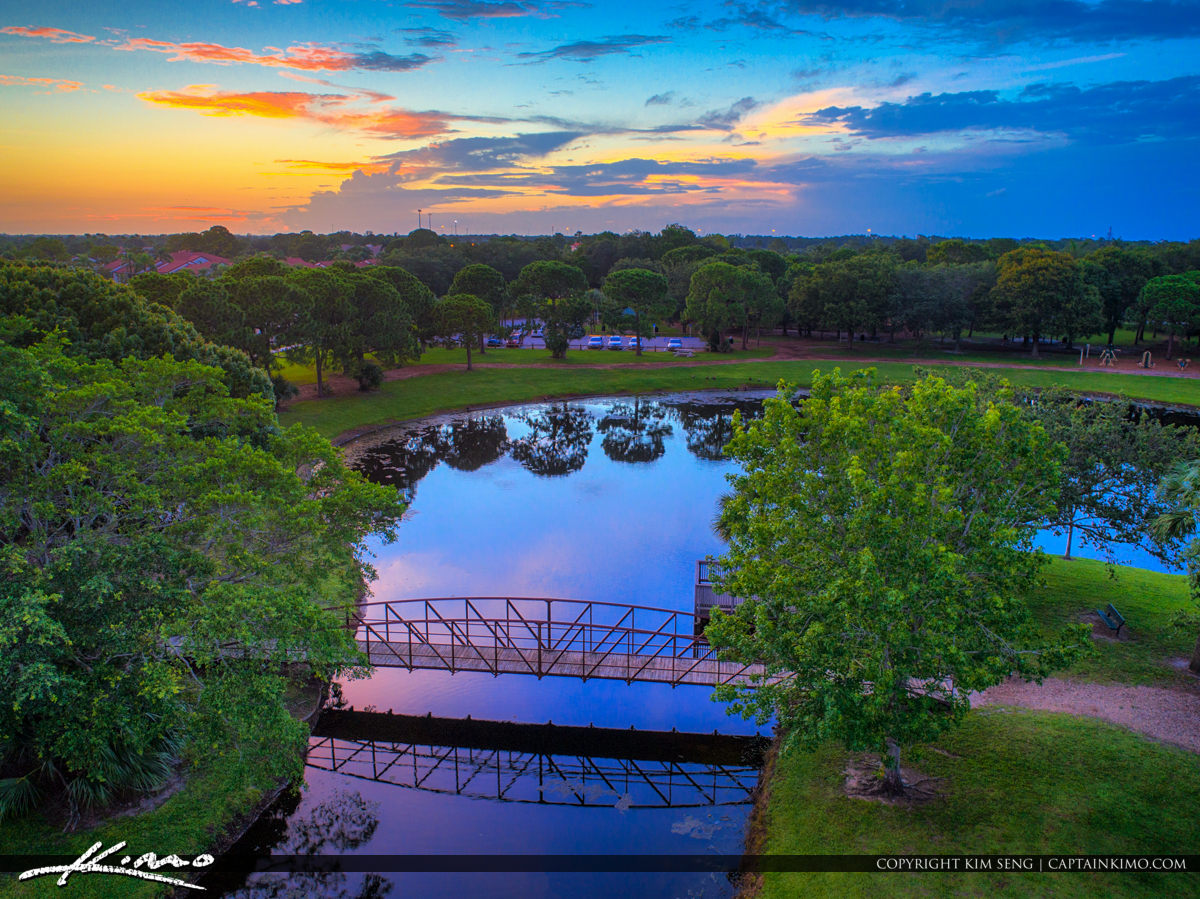 Indian Creek Park Jupiter Florida Sunset