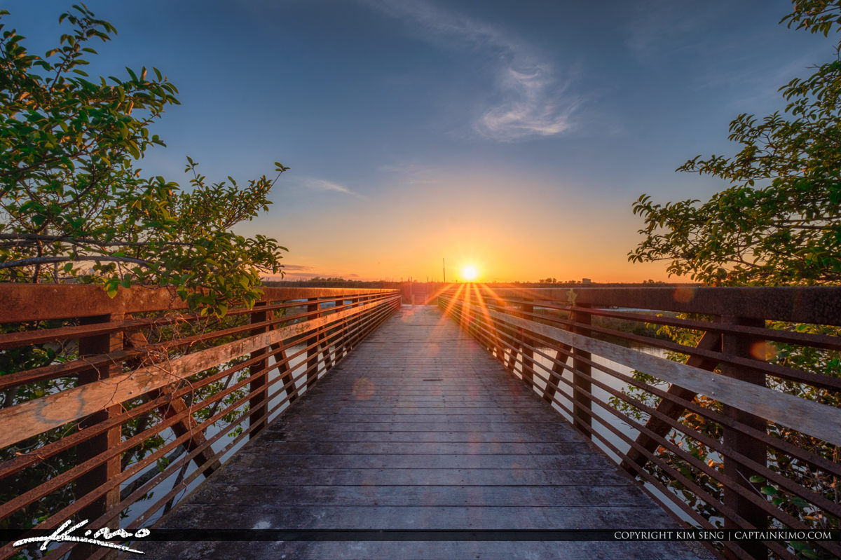 Parkland Florida Sunset at Bridge