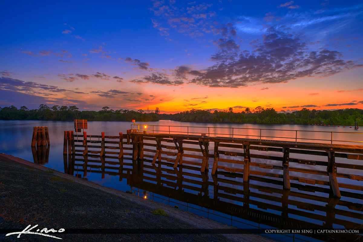 St Lucie South Loack and Dam Sunset