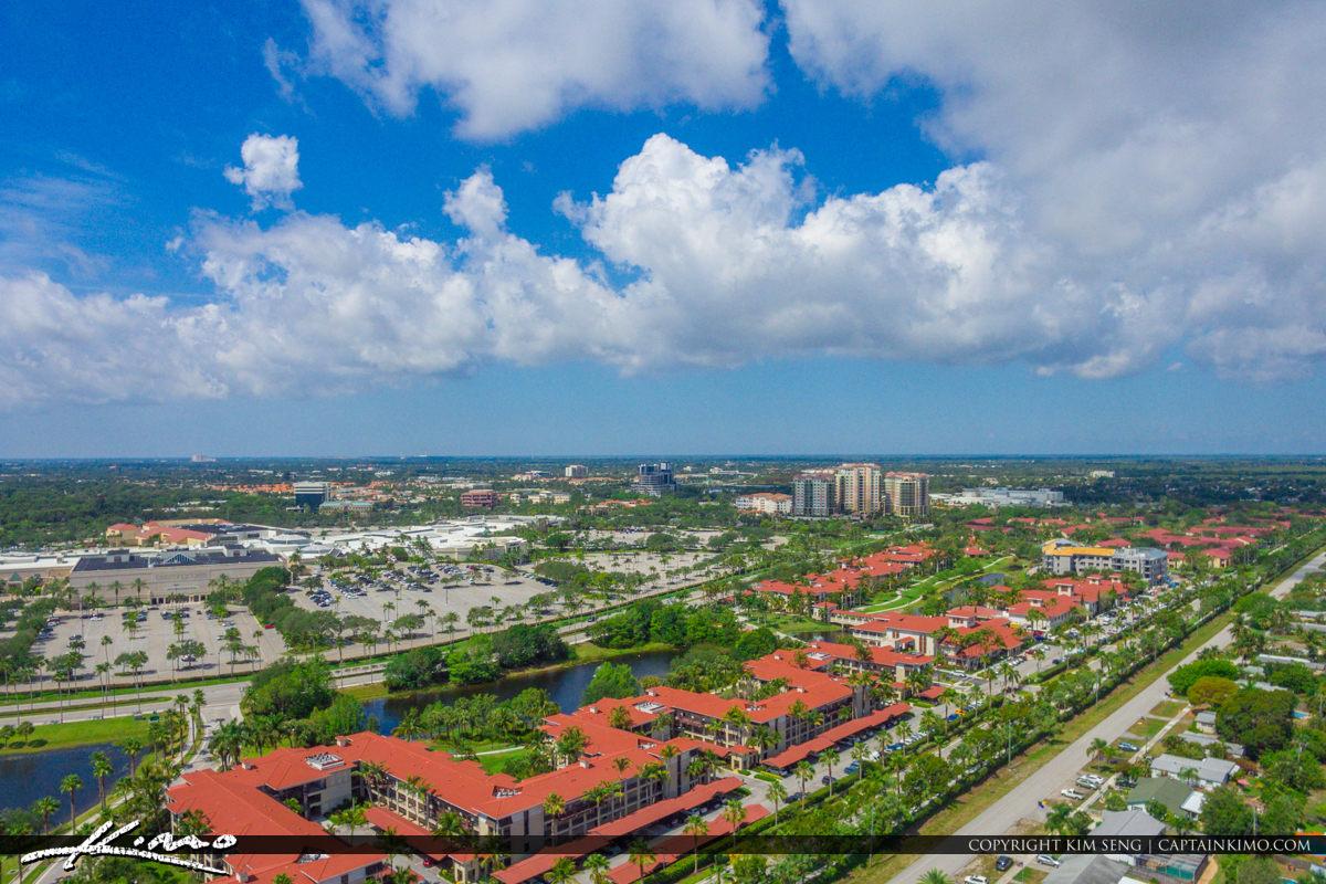 Palm Beach Gardens Aerial of the Gardens Mall and The Landmark