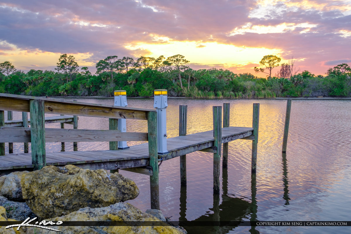 St Lucie Lock and Dam Dock at the Bay