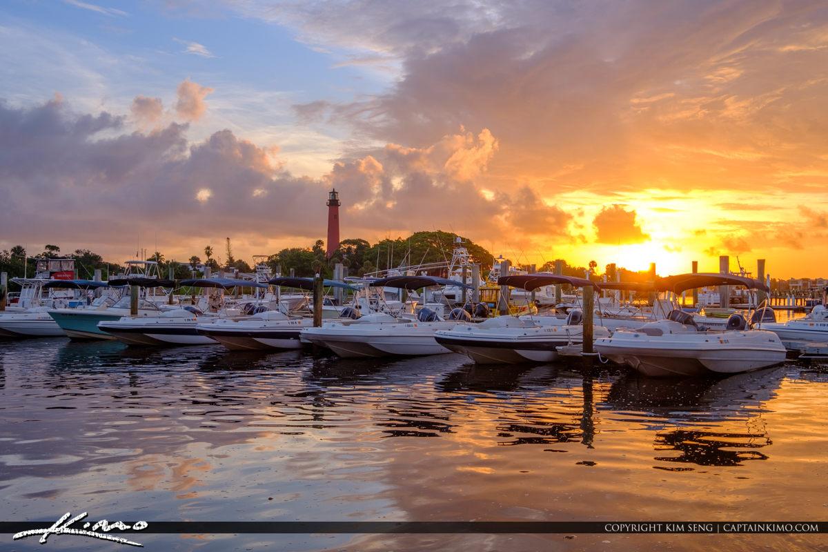 Jupiter Lighthouse Sunrise at the Marina