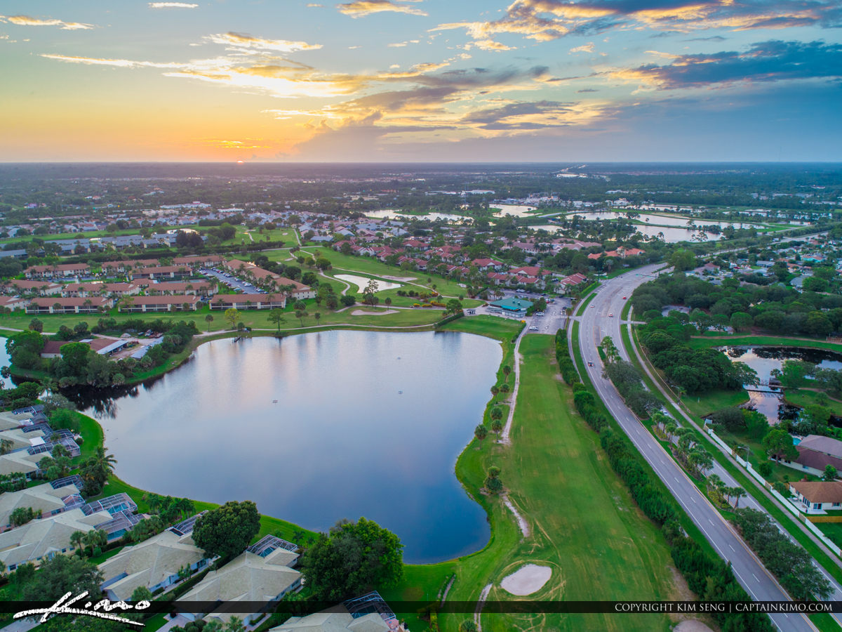 Jupiter Florida Aerial Jupiter Golf Course