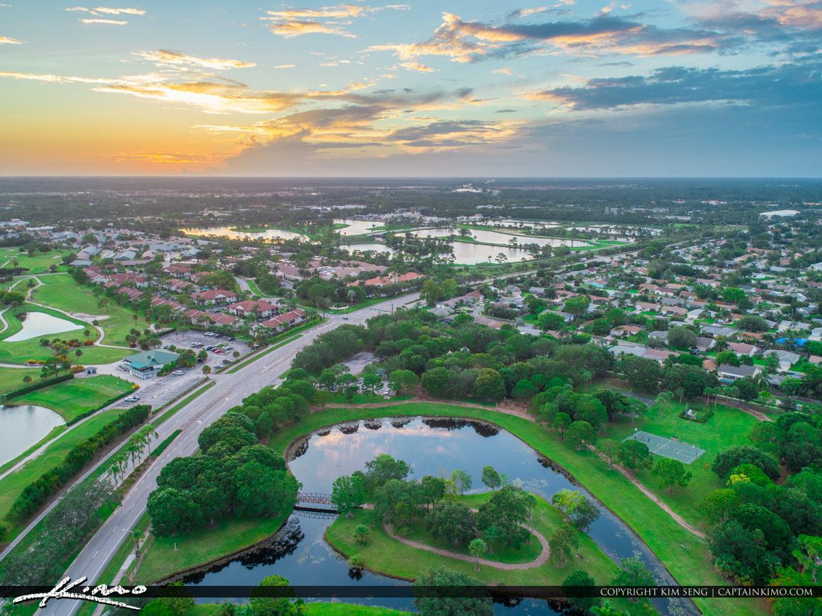 Jupiter Florida Aerial Central Blvd