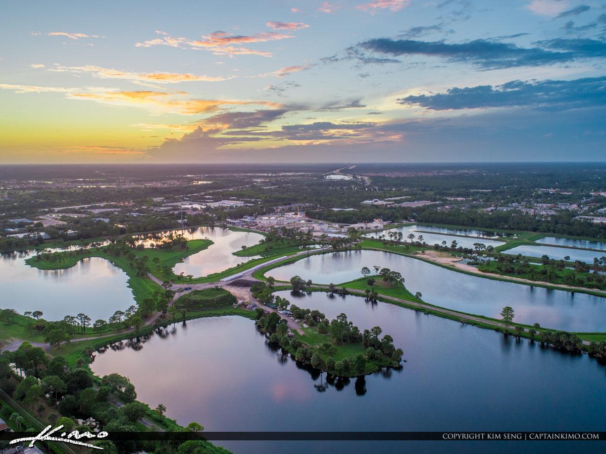 Jupiter Florida Aerial Water Treatment Area