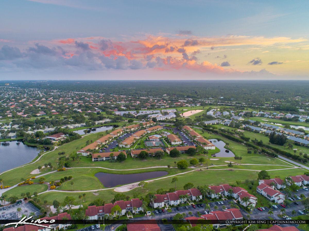 Jupiter Florida Aerial Golf Course in Jupiter