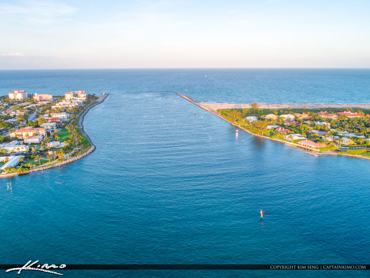 Palm Beach Inlet Aerial from Peanut Island