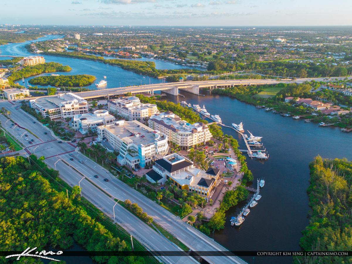 Jupiter Florida Harbourside from US1 at Indiantown Rd