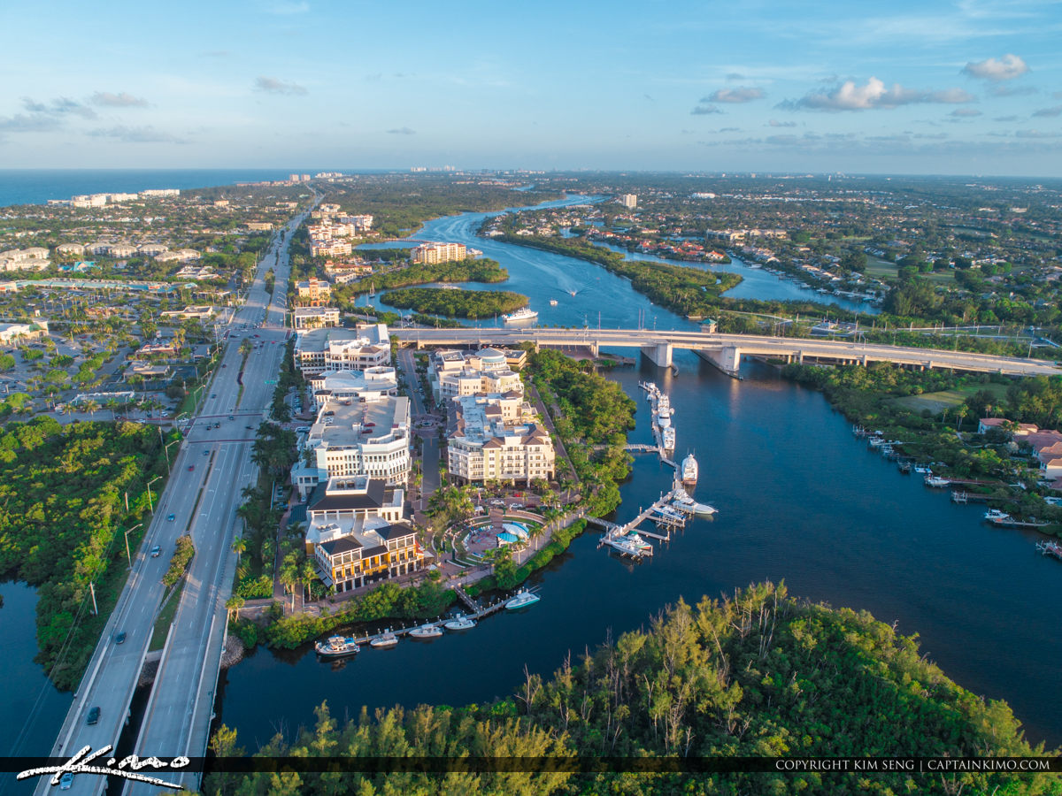 Jupiter Florida Harbourside along the Waterway