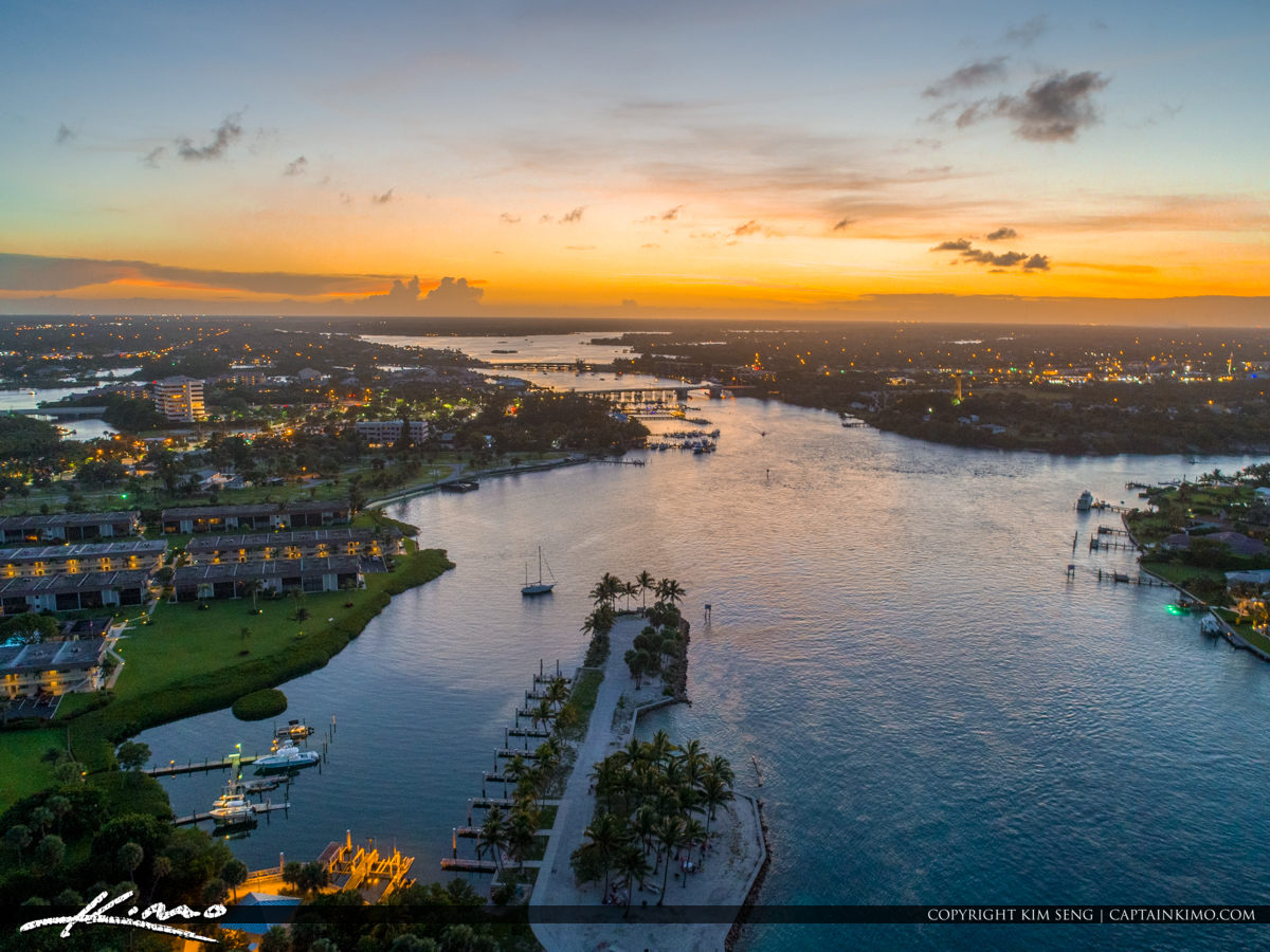 Dubois Aerial Sunset from Jupiter Florida