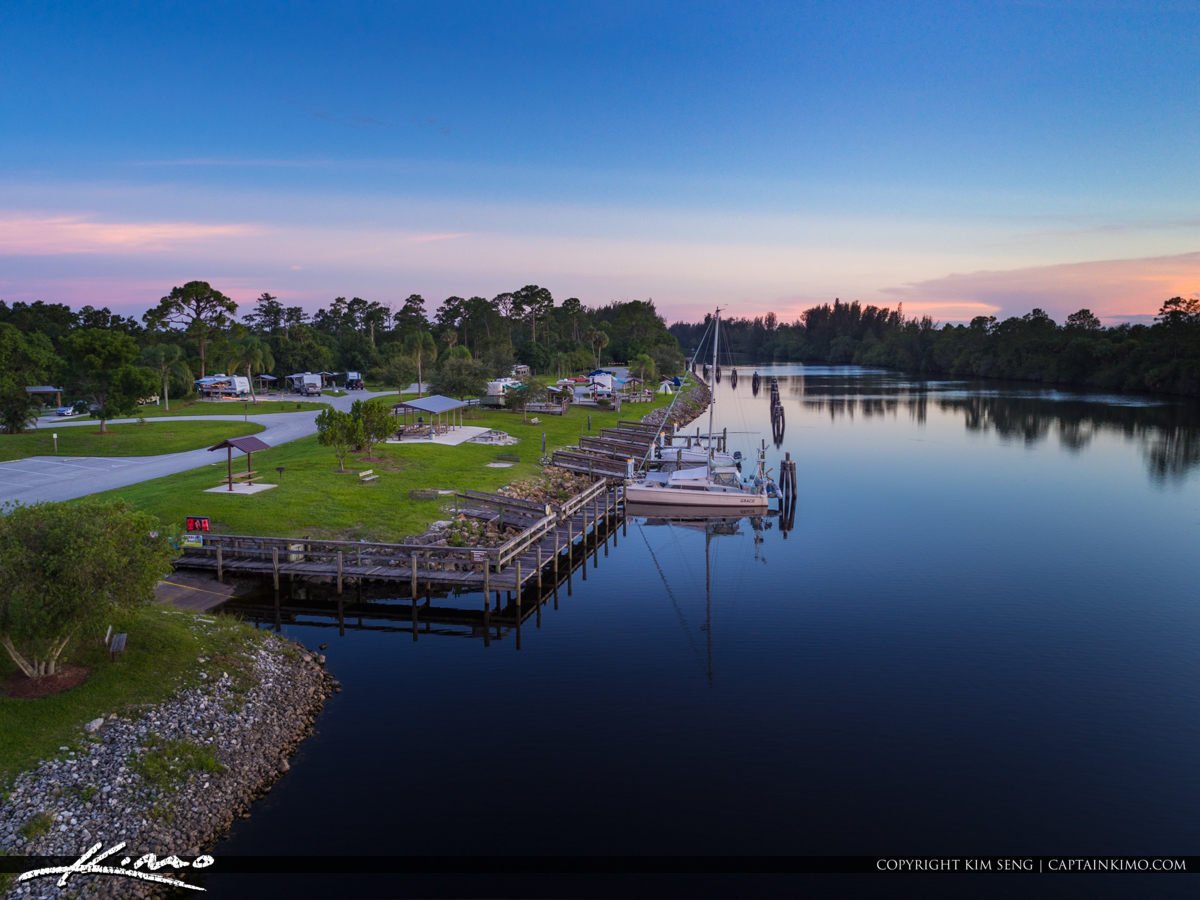 St Lucie Lock and Dam St Lucei River Boat Dock and Camp Ground