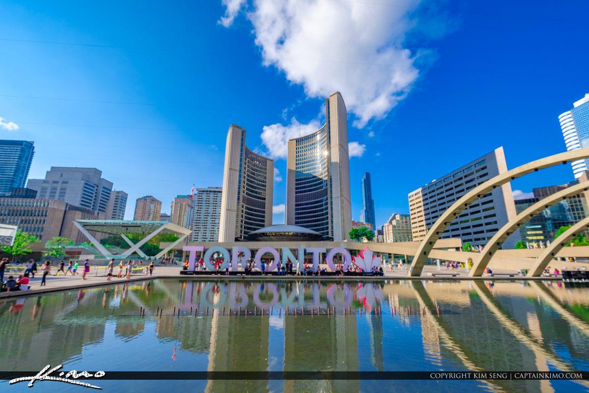 Nathan Phillips Square Toronto Canada Ontario