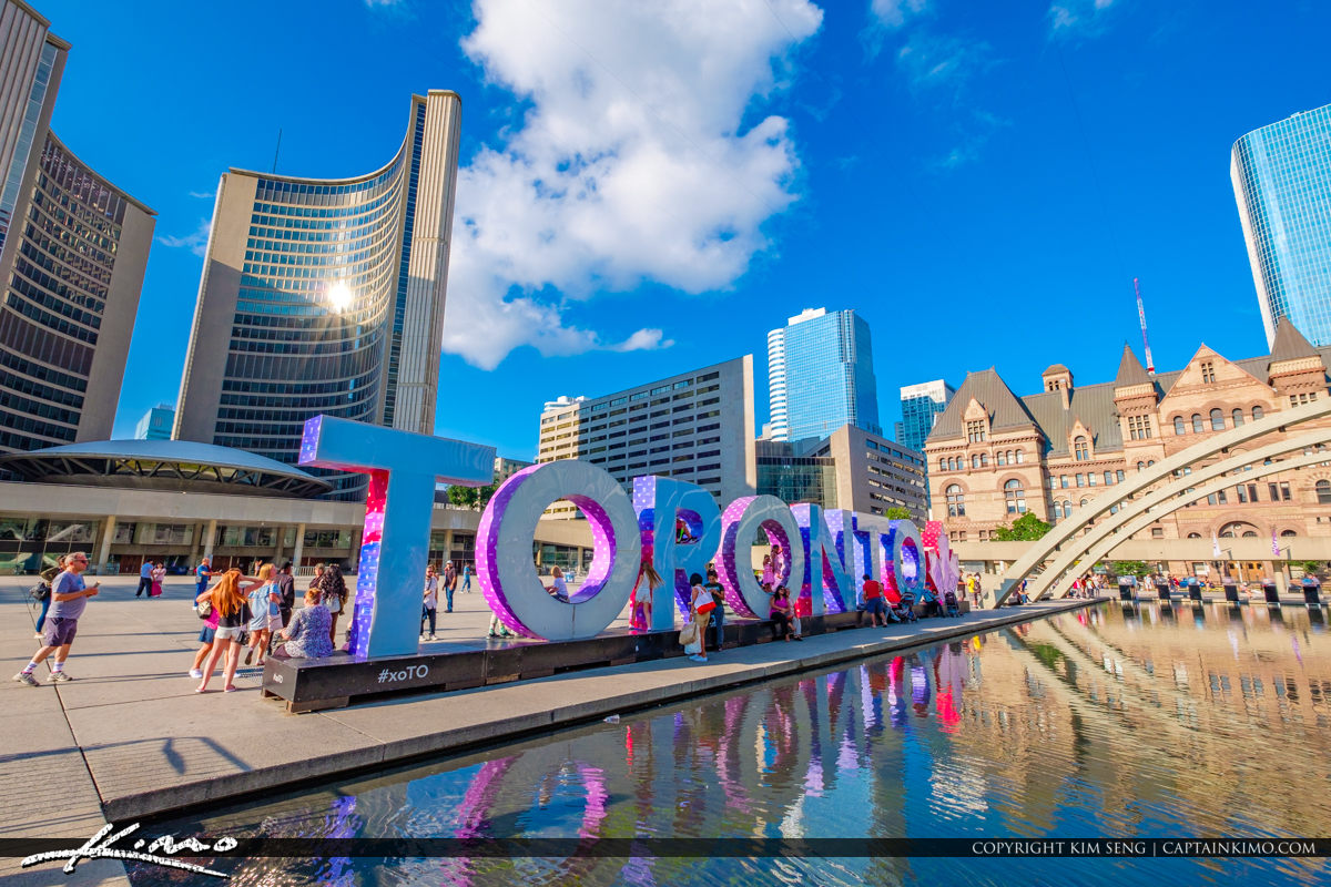 Toronto Canada Ontario Toronto Sign New City Hlal and Old City H