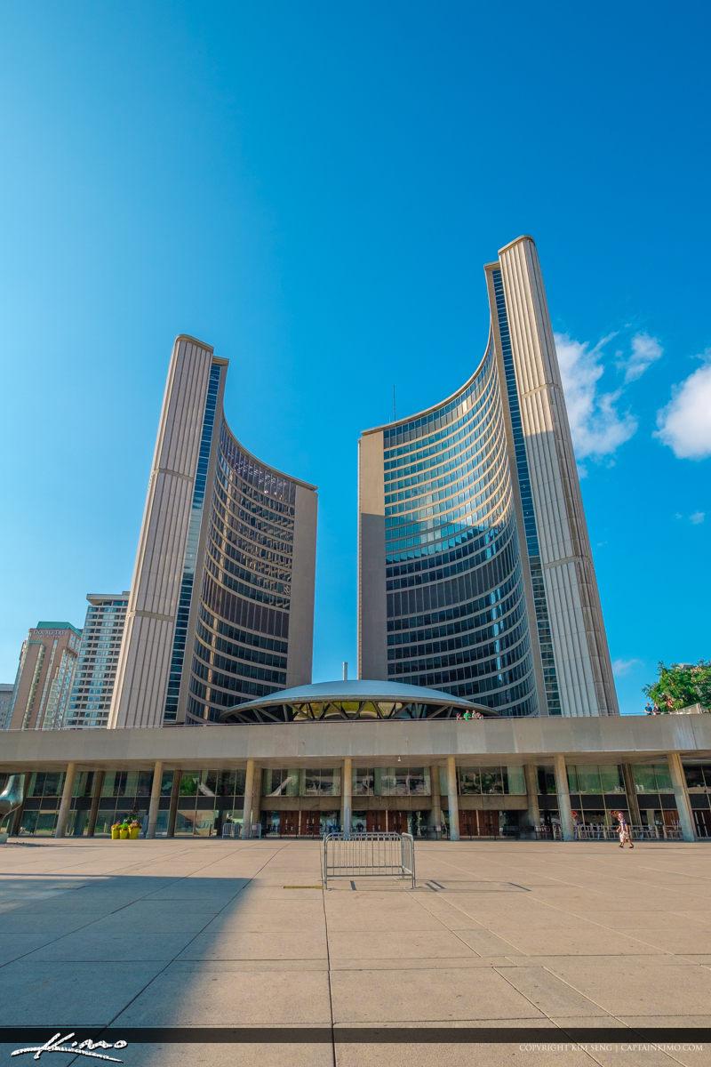Toronto Canada Ontario UFO at City Hall Building