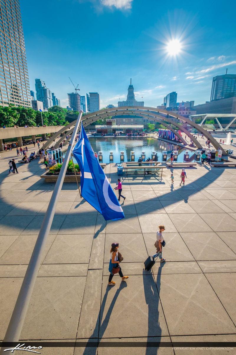 Toronto Canada Ontario Tourist Walking at Downtown Area