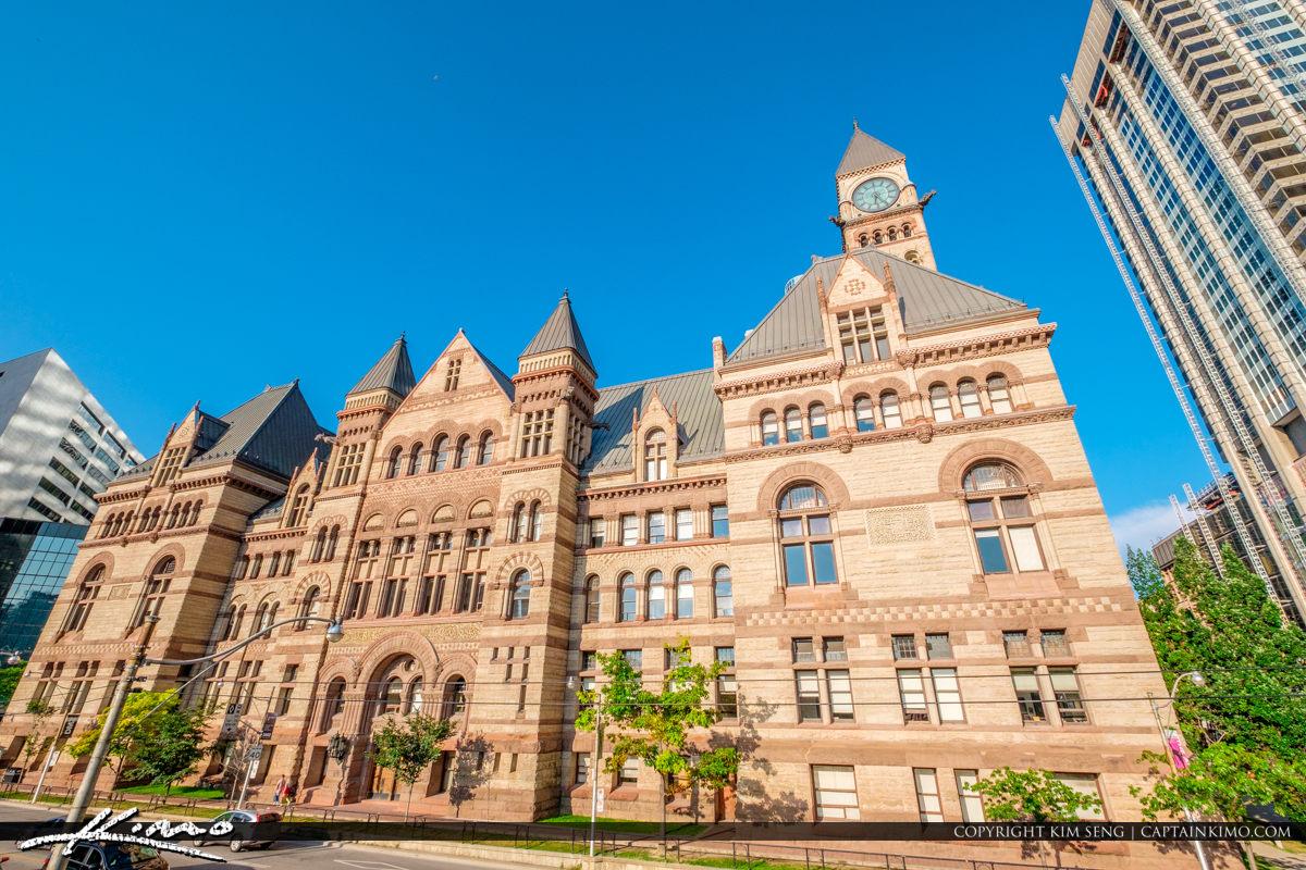 Toronto Canada Ontario Old City Hall blue Sky
