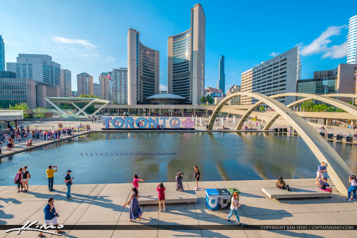 Toronto Canada Ontario Arches at Fountain