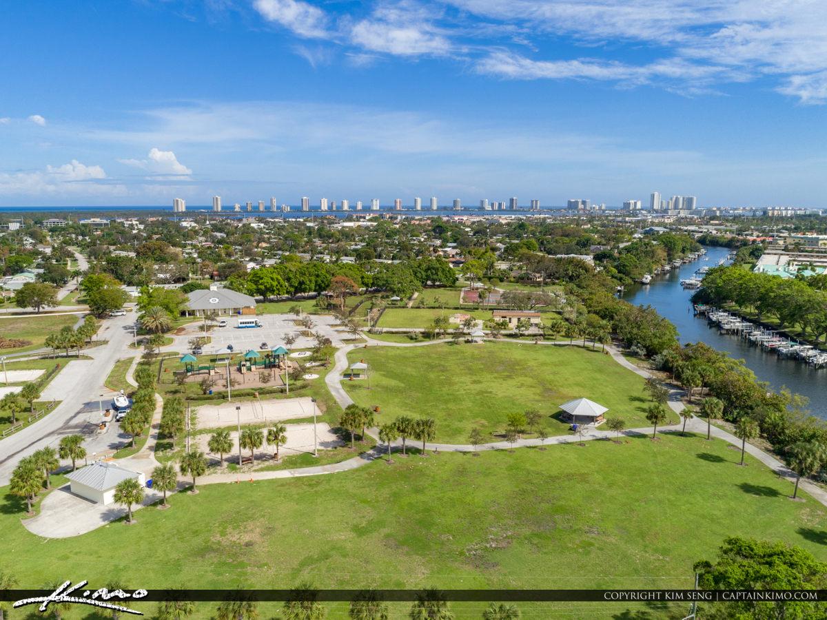 Aerial Anchorage Park North Palm Beach Florida