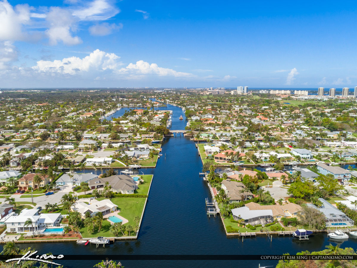 Canal and Waterfront Anchorage Park North Palm Beach Florida
