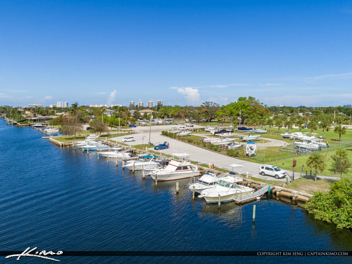 Boat Dock Anchorage Park North Palm Beach Florida