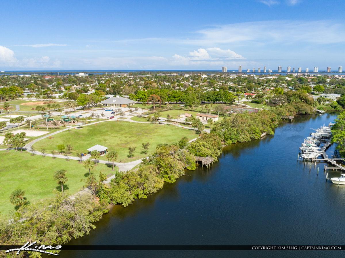 Anchorage Park Waterway and Pier North Palm Beach Florida