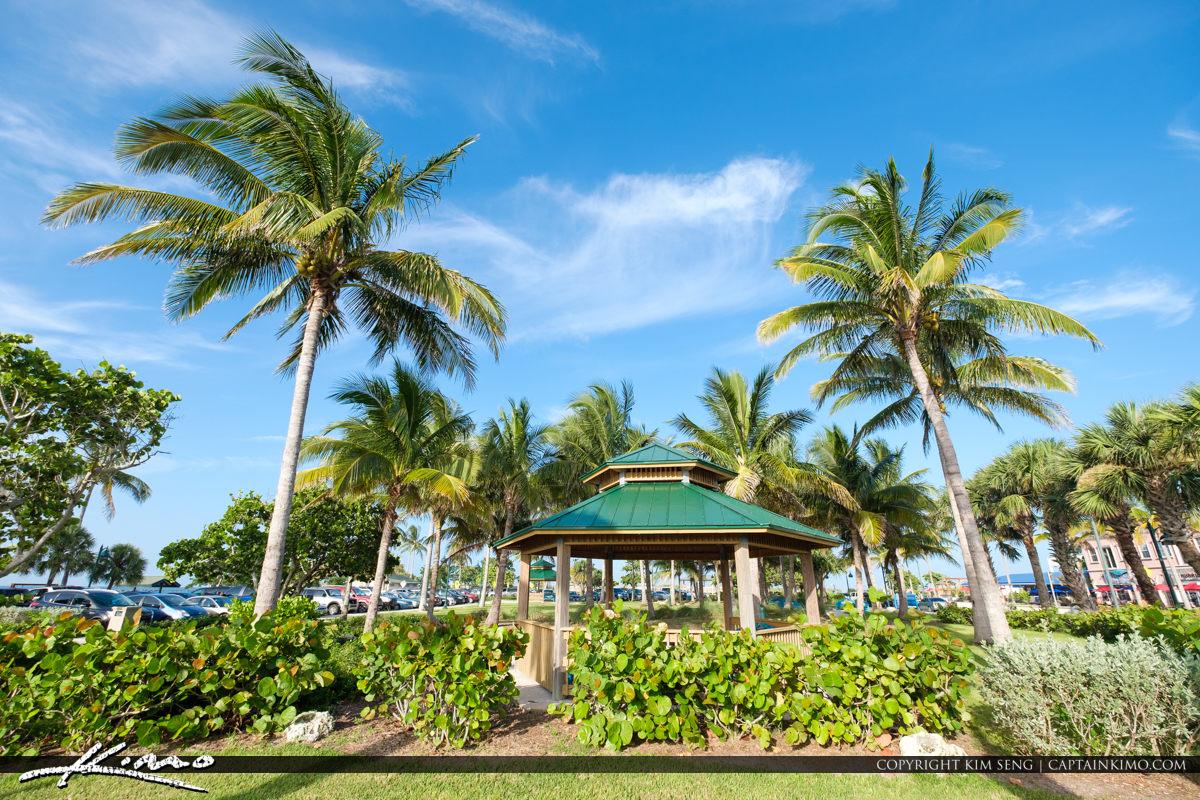 Gazebo Coconut Trees Jetty Park Fort Pierce Florida