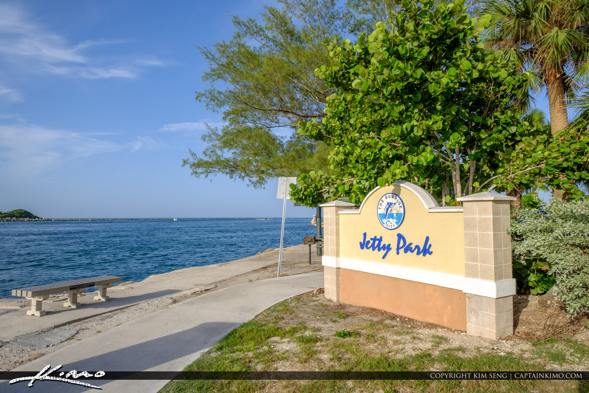 Sign at the Inlet Jetty Park Fort Pierce Florida
