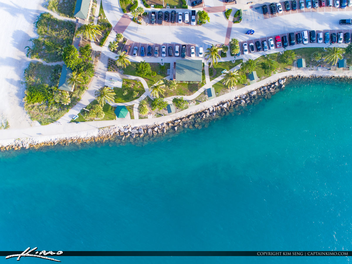 Inlet Aerial Jetty Park Fort Pierce Florida
