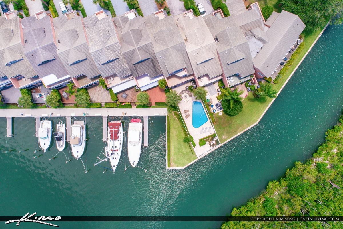 Jupiter Harbour Marina Aerial Waterfront Property