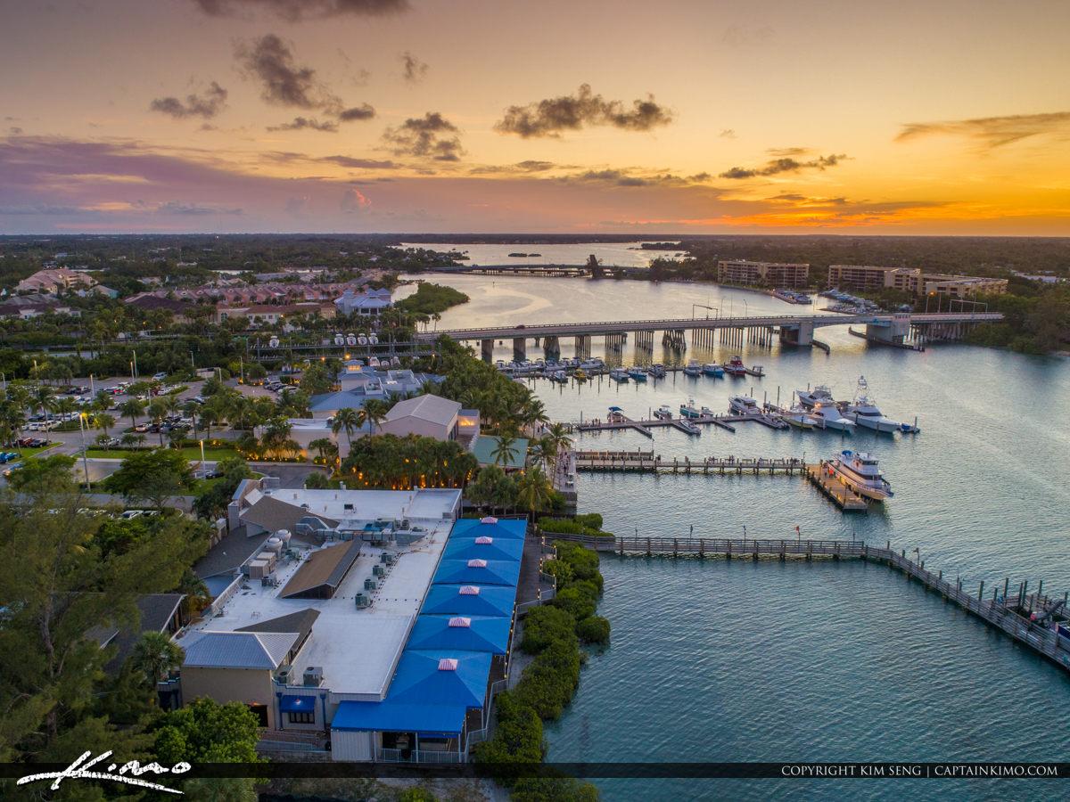 Jupiter Florida Aerial Love Street Waterway