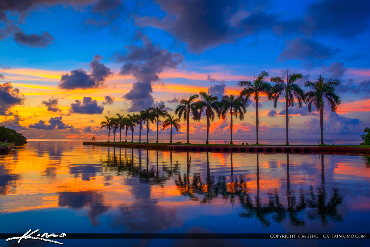Deering Estate Sunrise at Boat Basin Miami Florida