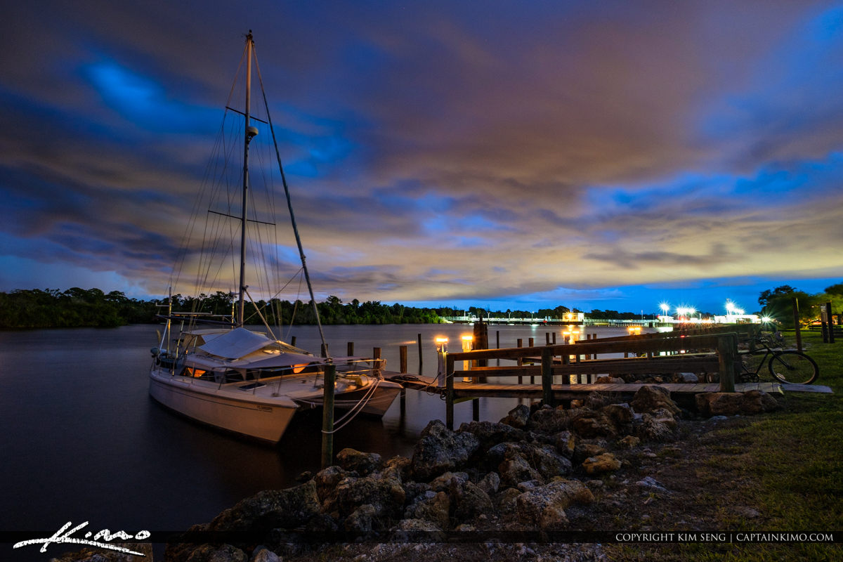 Stuart Florida Storm St Lucie River Lock and Dam Clouds