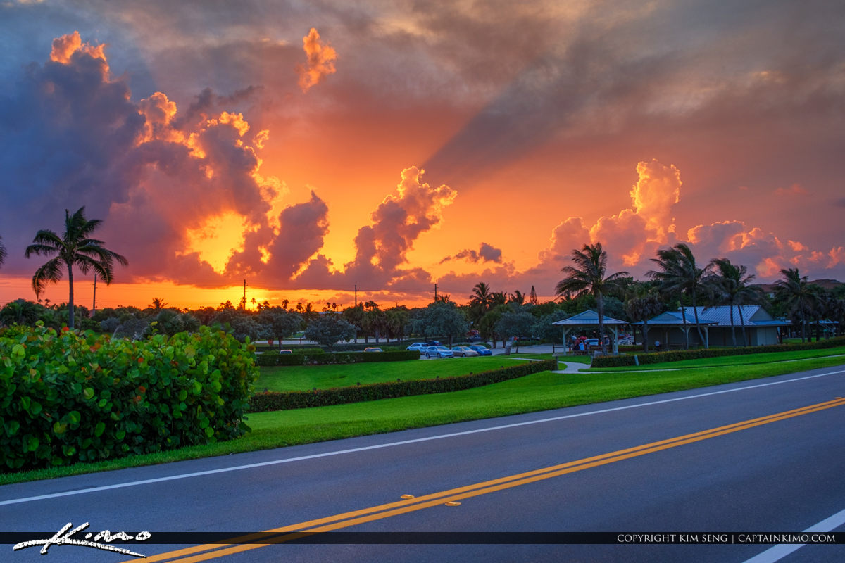 Ocean Cay Park Marcinski Road Juno Beach Florida Sunset