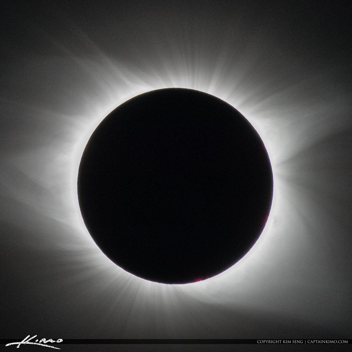 Solar Eclipse 2017 Santee South Carolina Black and White