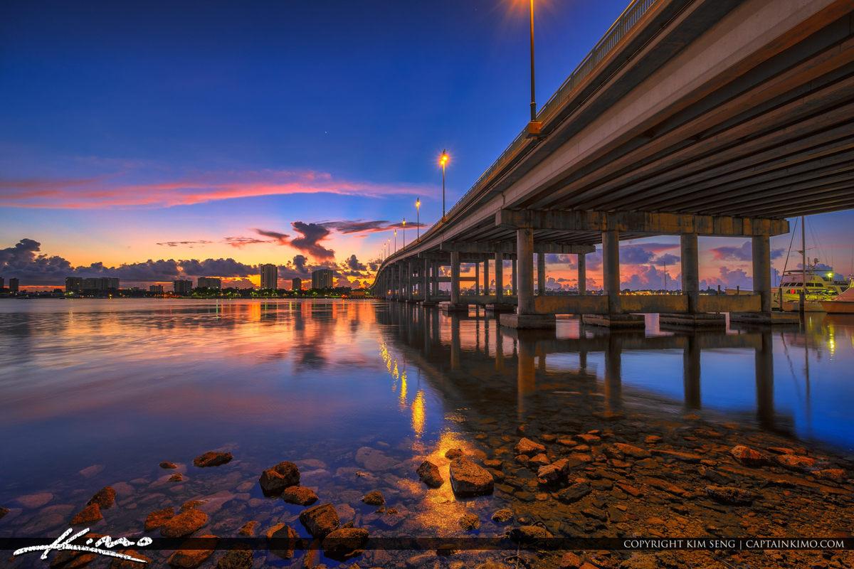 Blue Heron Bridge Sunrise Along Lake Worth Lagoon Singer Island