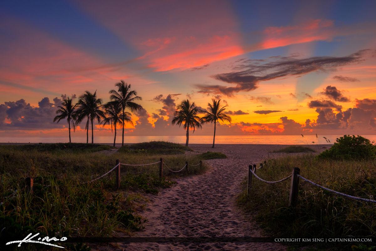 Beach Entrance Singer Island Florida Sunrise
