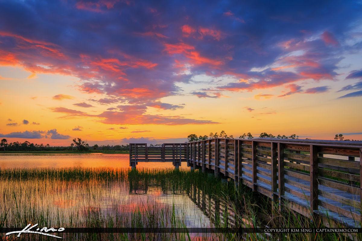Cloud Colors Fishing Pier Pine Glades Jupiter Florida