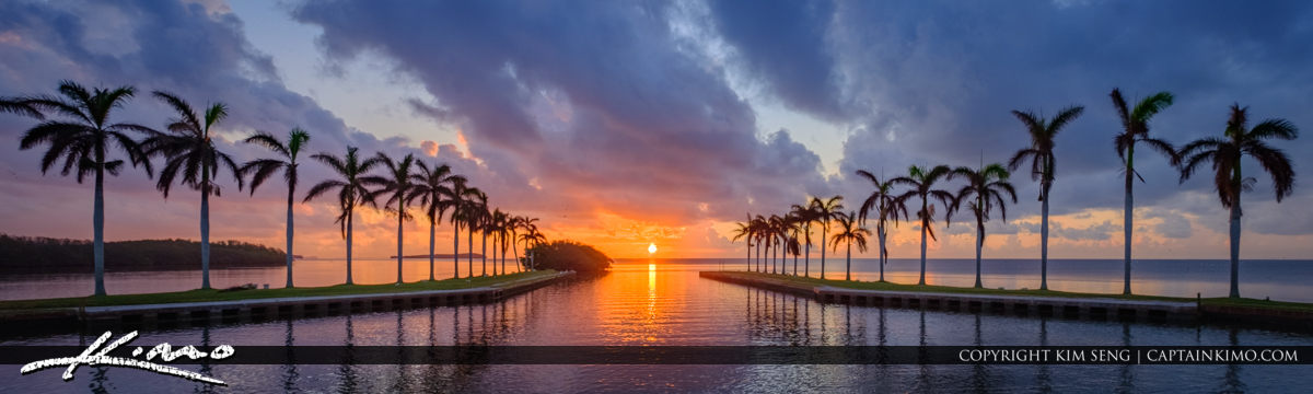 Deering Estate Sunrise at Equinox Panorama  Miami Florida