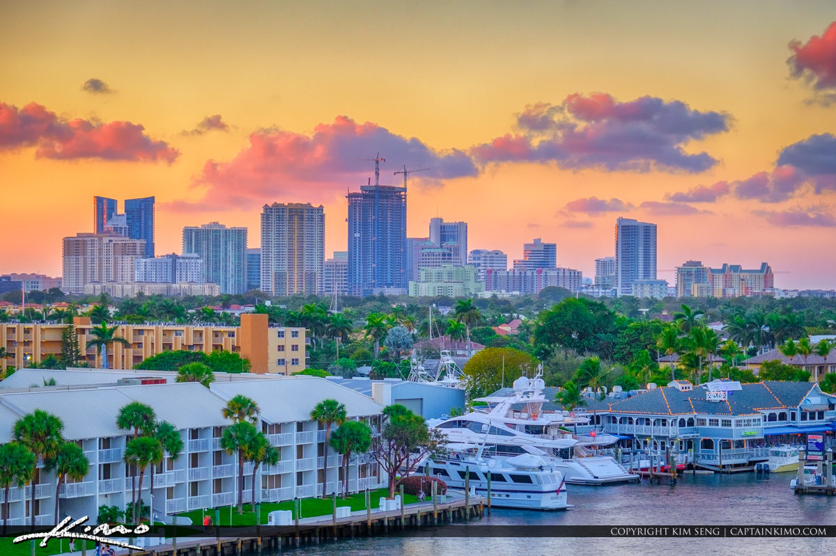 Fort Lauderdale Skyline Colors