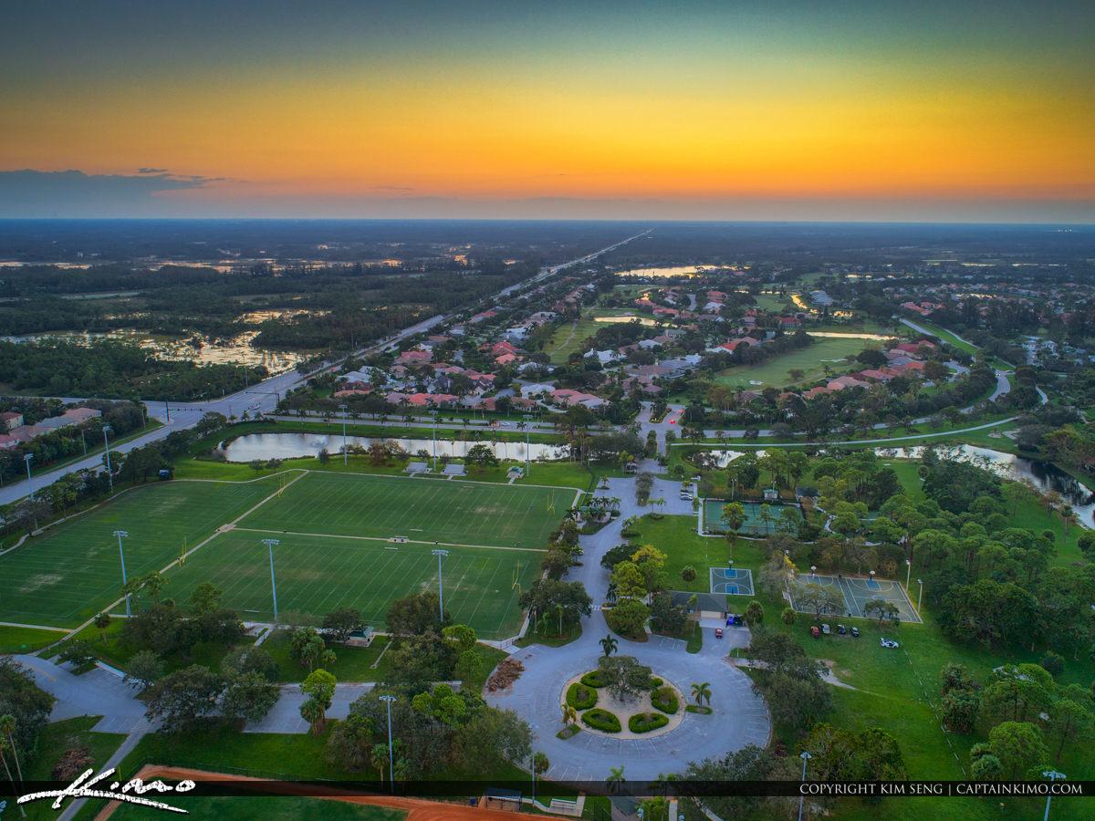 PGA National Park Aerial Sunset