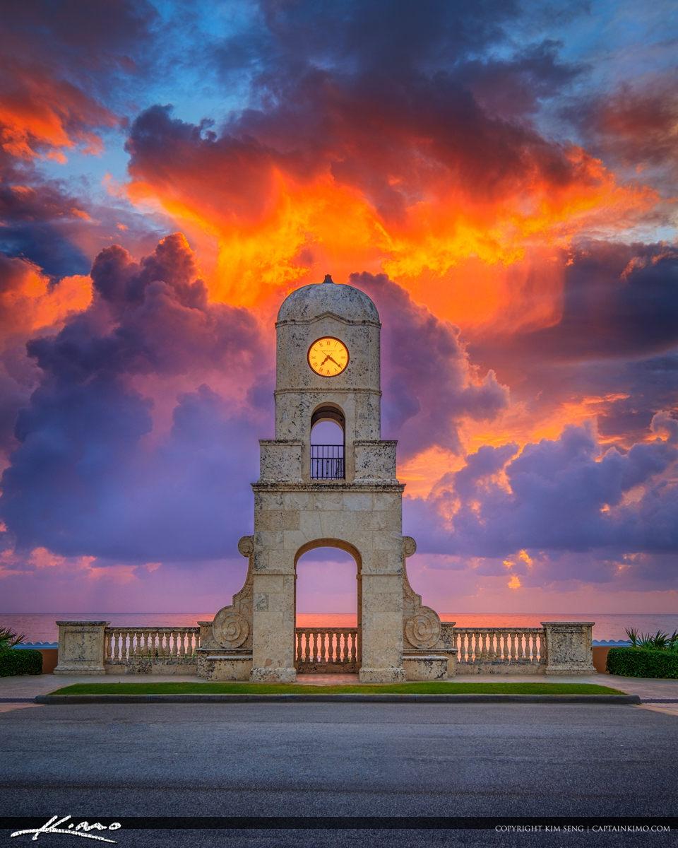 Palm Beach Island Worth Avenue Clock Tower Sunrise