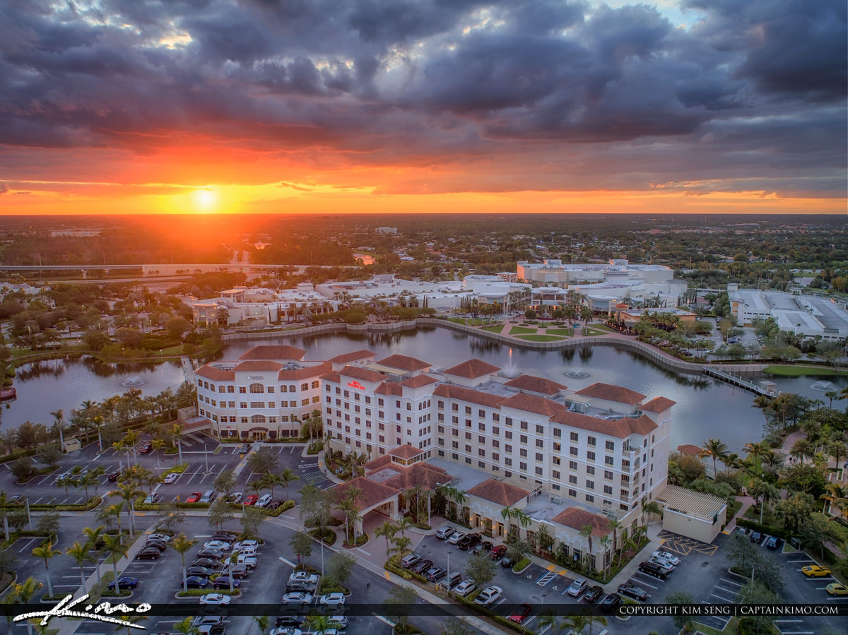 Hilton Garden Inn Sunset Downtown Palm Beach Gardens Florida