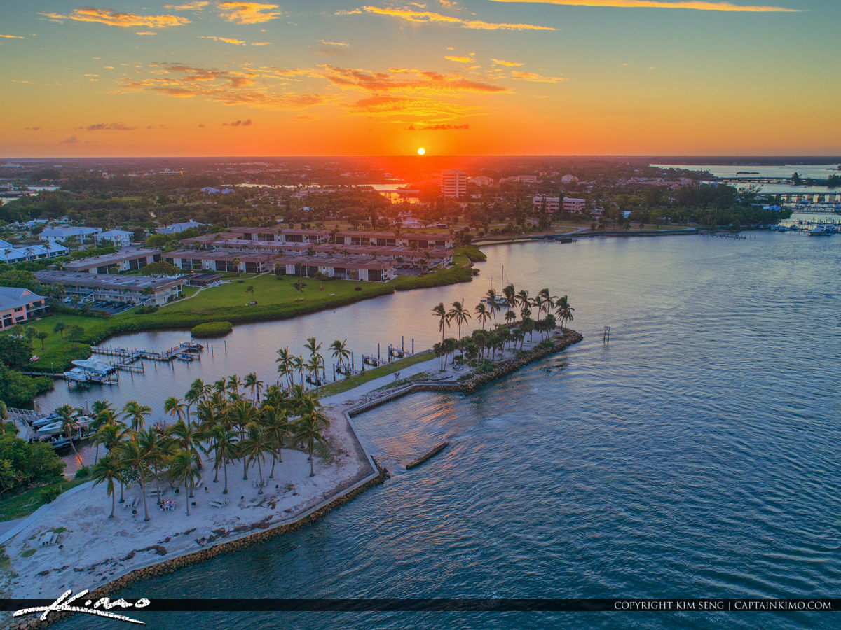 Dubois Park Sunset at Jupiter Inlet Waterway