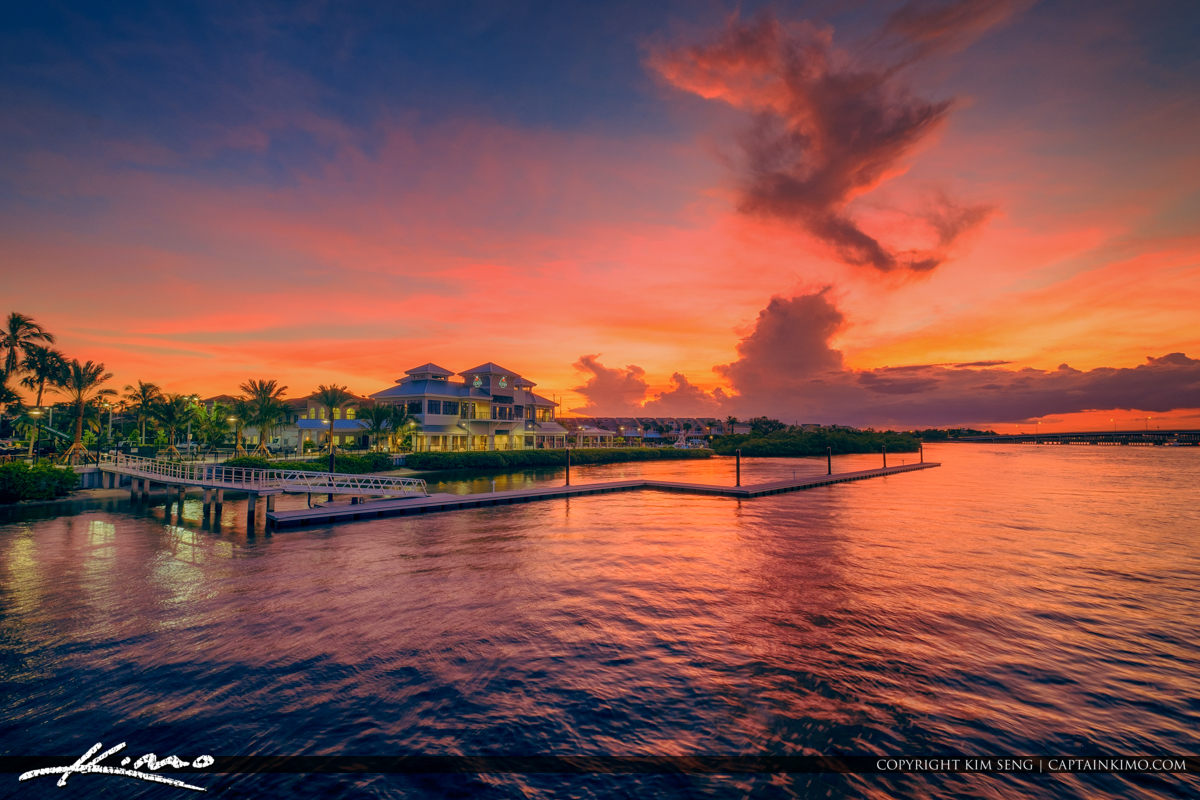 1000 North Jupiter Florida Sunset from Fishing Pier