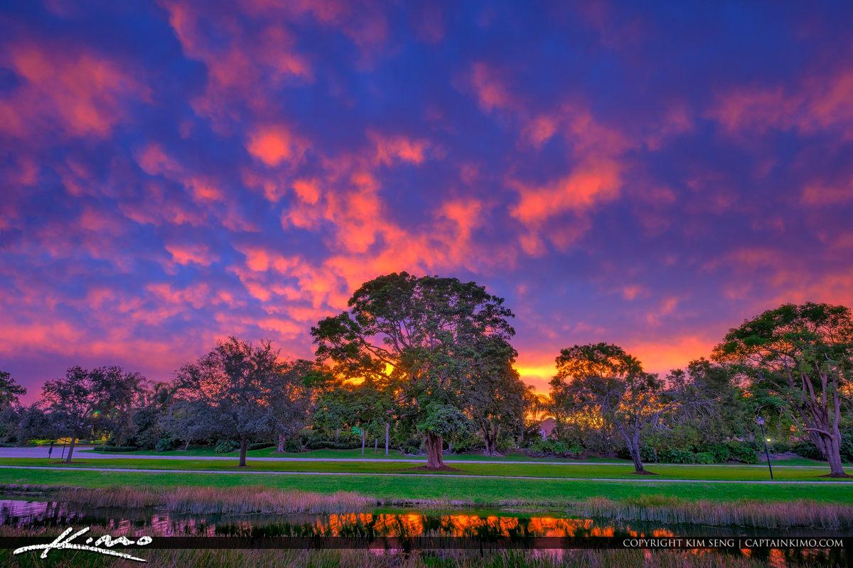 PGA National Sunset Over Palm Beach Gardens Florida
