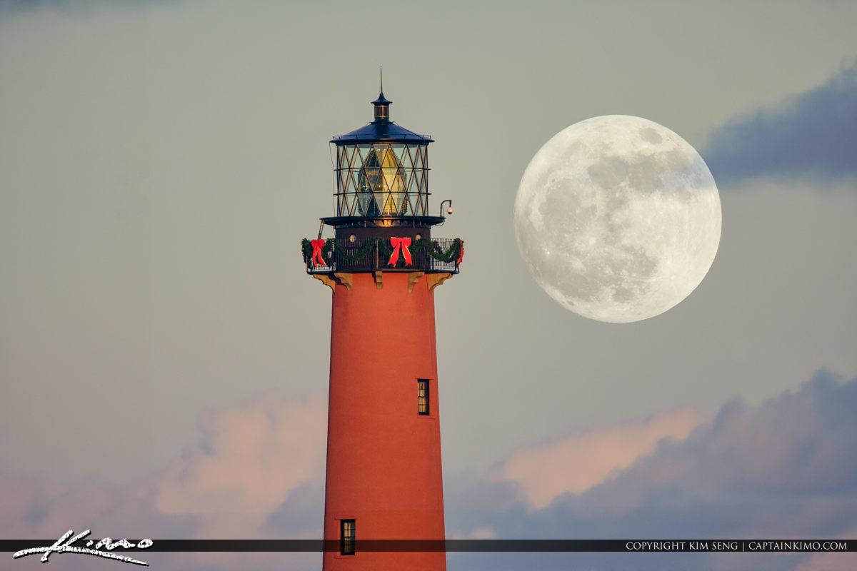 Christmas Moon Jupiter Lighthouse