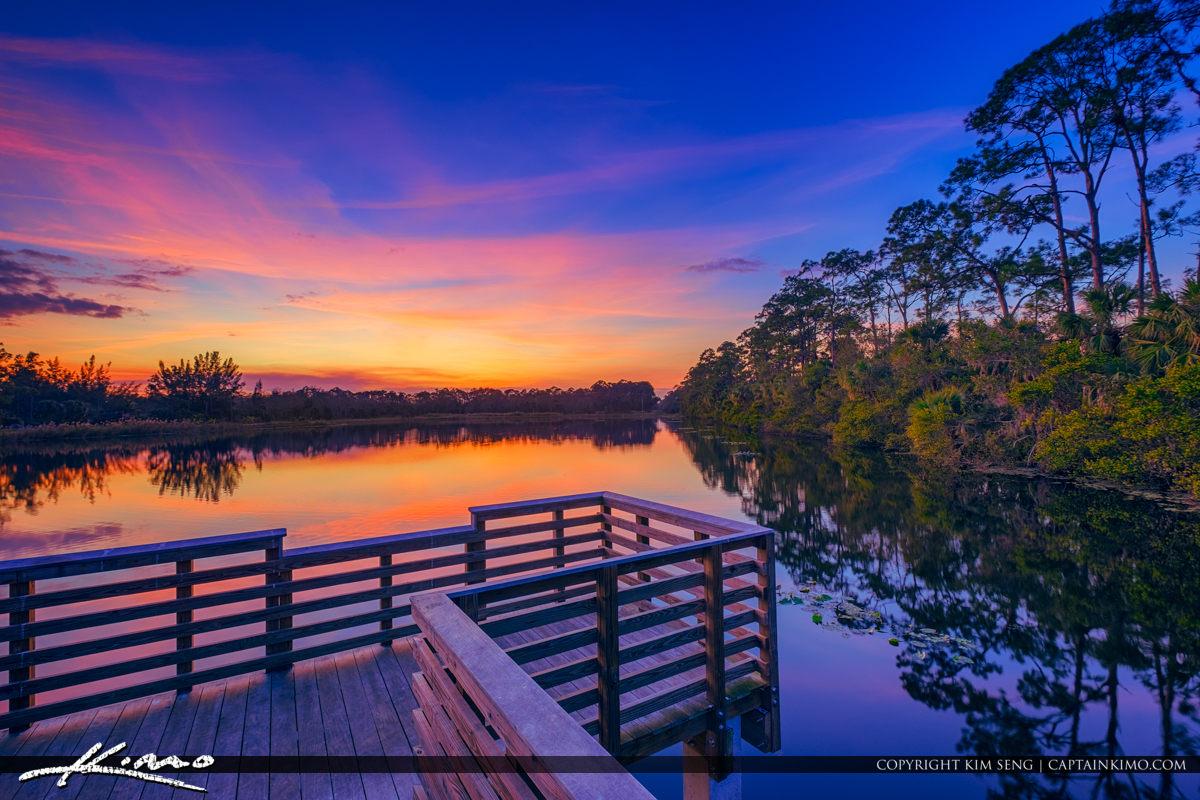 Cypress Creek South Natural Area Sunset Jupiter Farms Florida