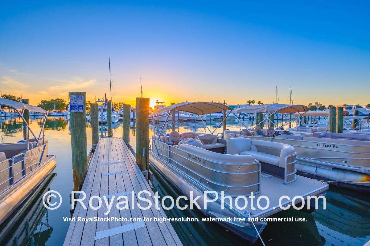 Sarasota Bayfront Pontoon Boat Sunset