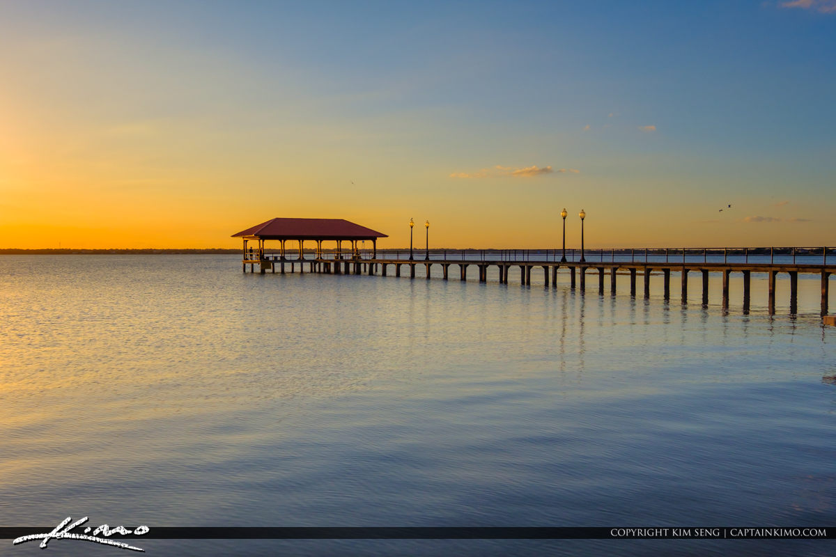 Beautiful Lake Jackson Fishing Pier Sebring Florida