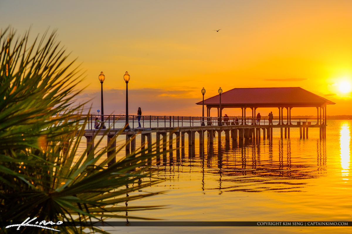 Palm Tree Lake Jackson Fishing Pier Sebring Florida
